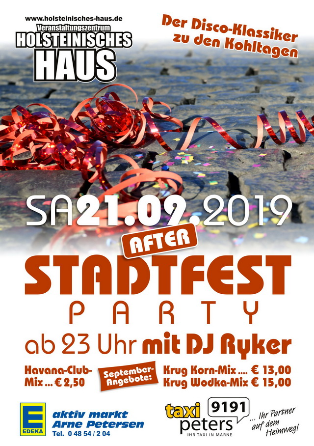 After Stadtfest Party
